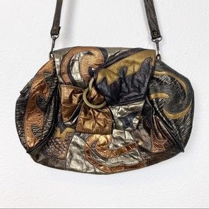 Vintage Bags by Pinky Patchwork Leather Handbag